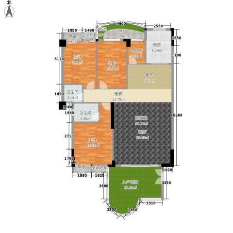 汇景蓝湾3室0厅2卫1厨169.00㎡户型图