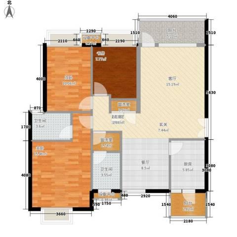 高山流水3室0厅2卫1厨103.00㎡户型图