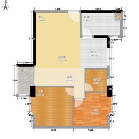 赛拉维2室0厅1卫1厨89.00㎡户型图