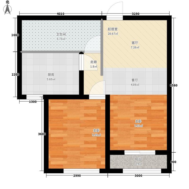高城山65.42㎡G户型2室2厅