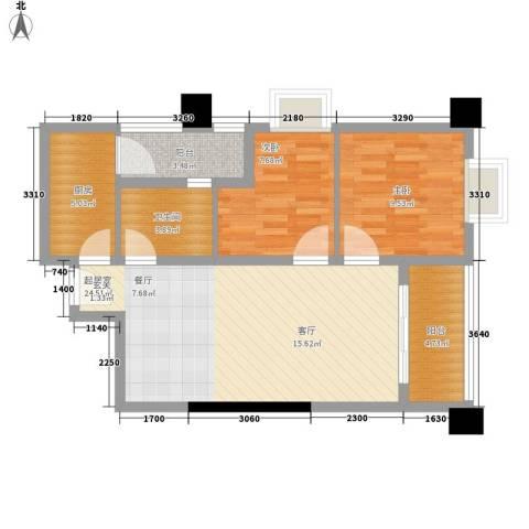 赛拉维2室0厅1卫1厨68.00㎡户型图