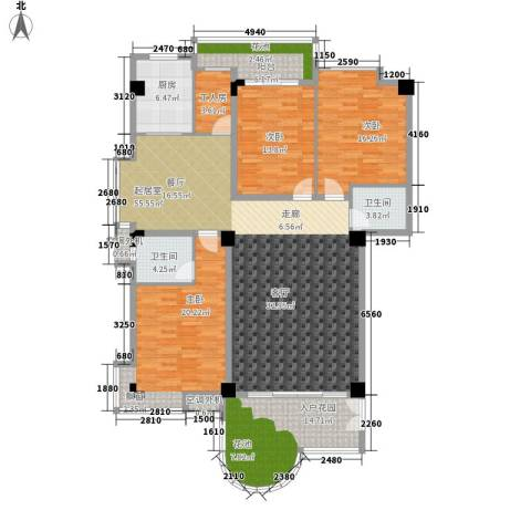 汇景蓝湾3室0厅2卫1厨163.00㎡户型图