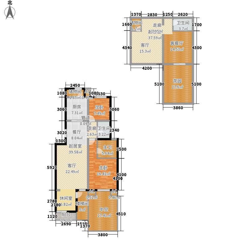 建邦原香溪谷花园洋房A首层平面图户型