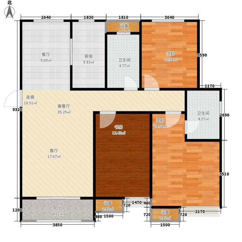中海华山珑城125.00㎡G户型3室2厅