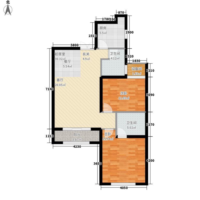 海宁湾110.77㎡1、2、3号楼标准层A4户型