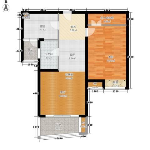 鸿城・铂兰湾1室0厅1卫1厨88.00㎡户型图