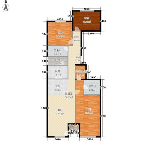 上东8号3室0厅2卫1厨200.00㎡户型图