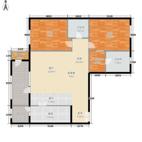 上东8号2室0厅2卫1厨180.00㎡户型图