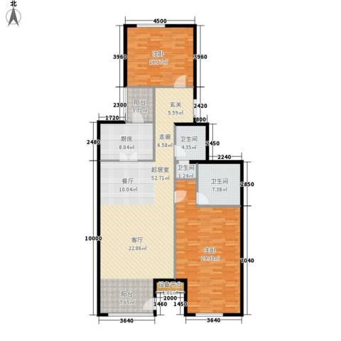 上东8号2室0厅3卫1厨160.00㎡户型图
