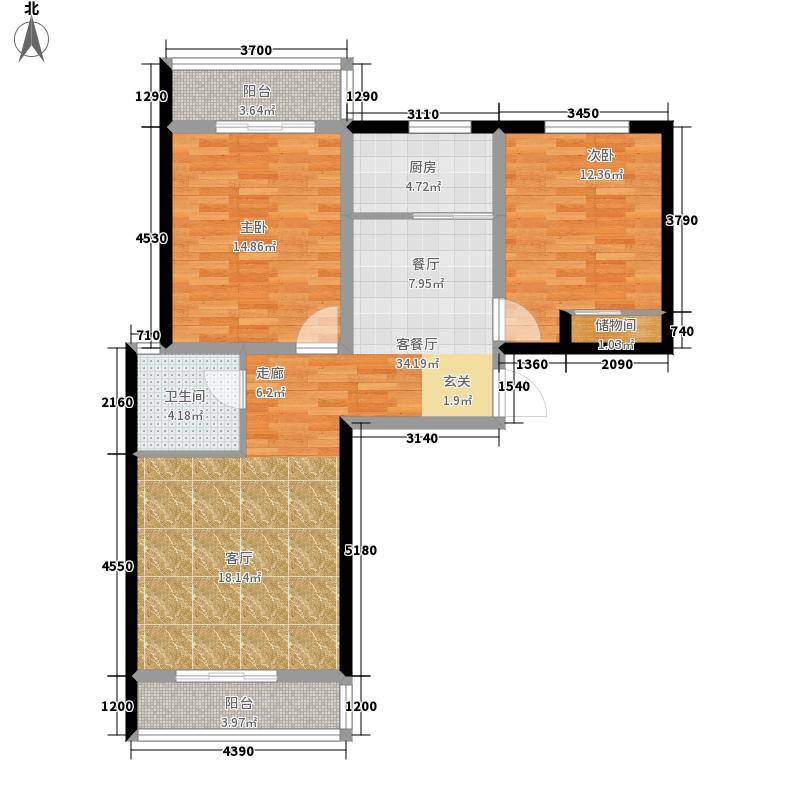 龙海新区北苑30号楼1-04户型