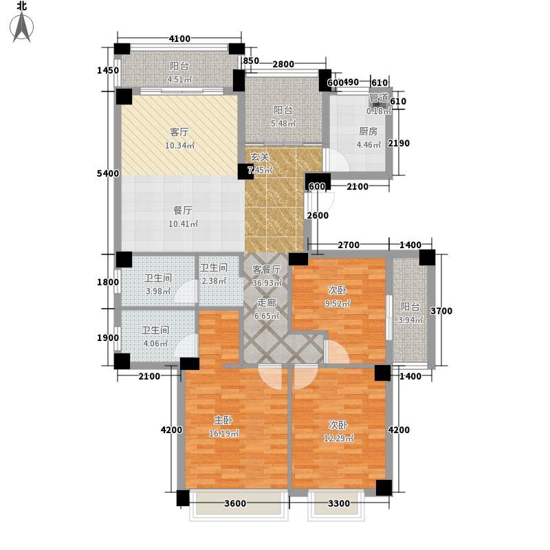 南宁奥园130.80㎡悉尼组团3号楼A户型3室2厅