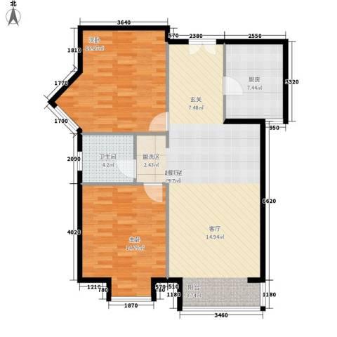 丽都壹号2室0厅1卫1厨89.00㎡户型图