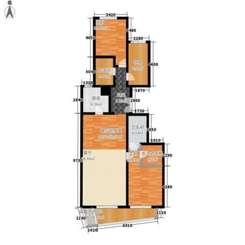 华远九都汇3室0厅2卫1厨180.00㎡户型图