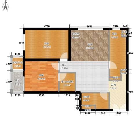 华远九都汇2室0厅1卫1厨103.00㎡户型图
