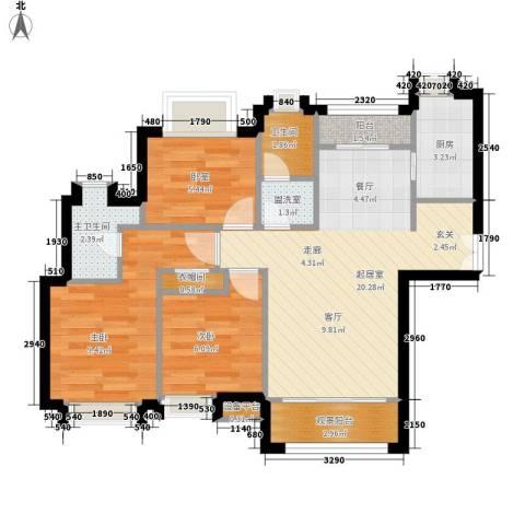 东方康德家园2室0厅1卫1厨64.00㎡户型图