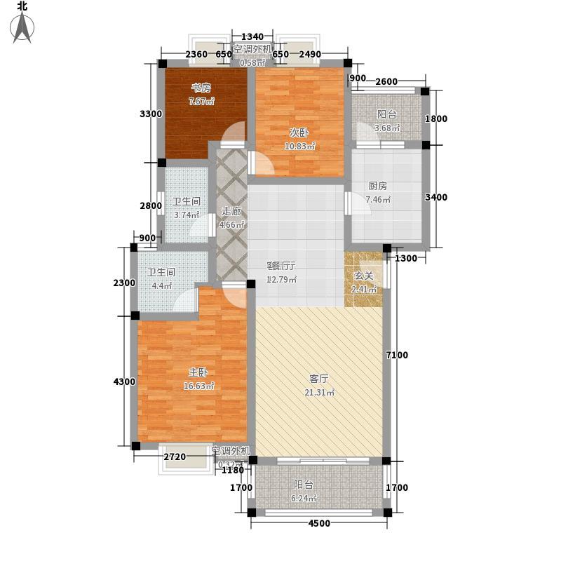 南宁奥园123.19㎡2I1户型3室2厅