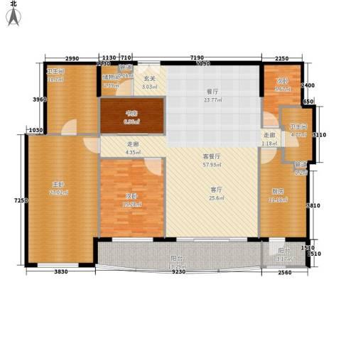 世茂宫园4室1厅2卫1厨217.00㎡户型图