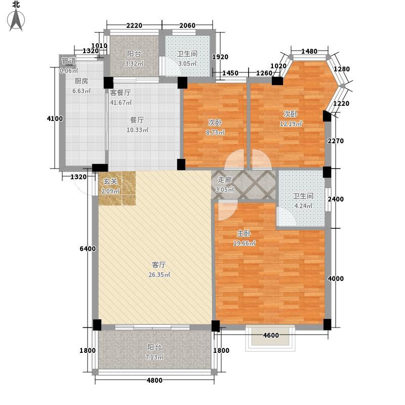 南宁奥园125.63㎡2C户型3室2厅