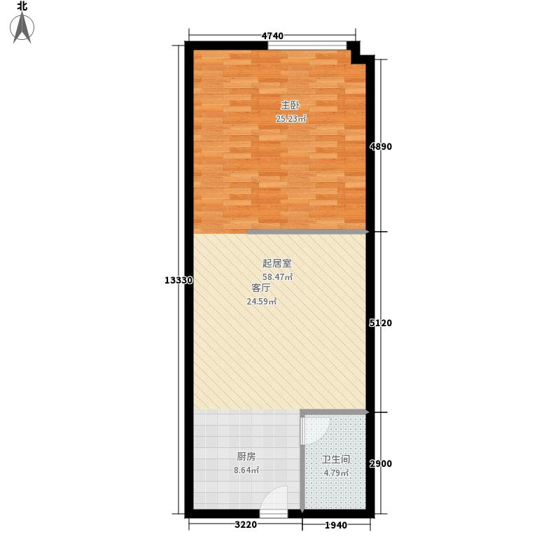 汇特大厦68.61㎡T4-5层6面积6861m户型