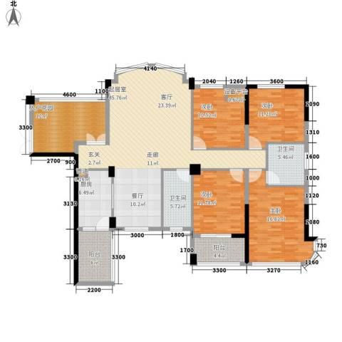 融圣国际4室0厅2卫1厨168.00㎡户型图
