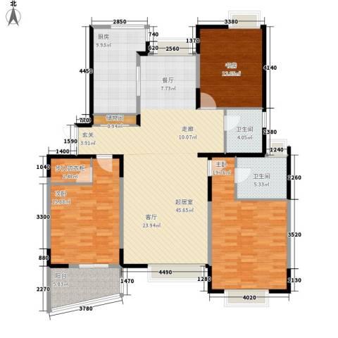舒诗康庭3室0厅2卫1厨138.00㎡户型图