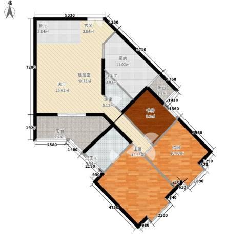 芙蓉新天地3室0厅2卫1厨157.00㎡户型图