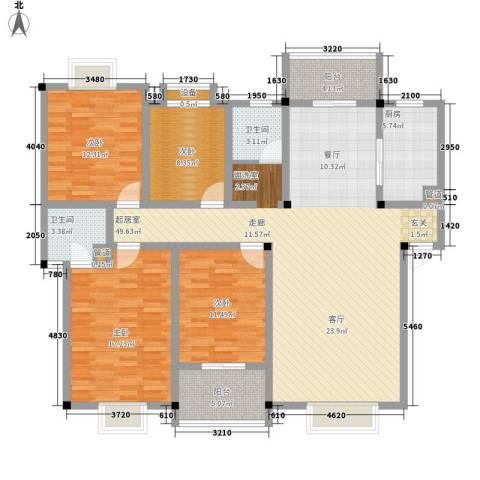 商学院和园4室0厅2卫1厨140.00㎡户型图