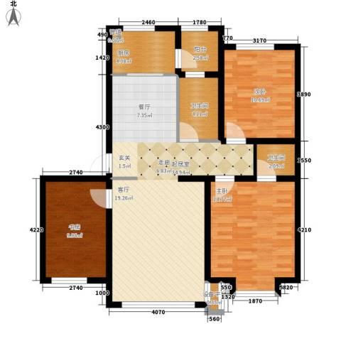 兴盛景悦蓝湾3室0厅2卫1厨120.00㎡户型图