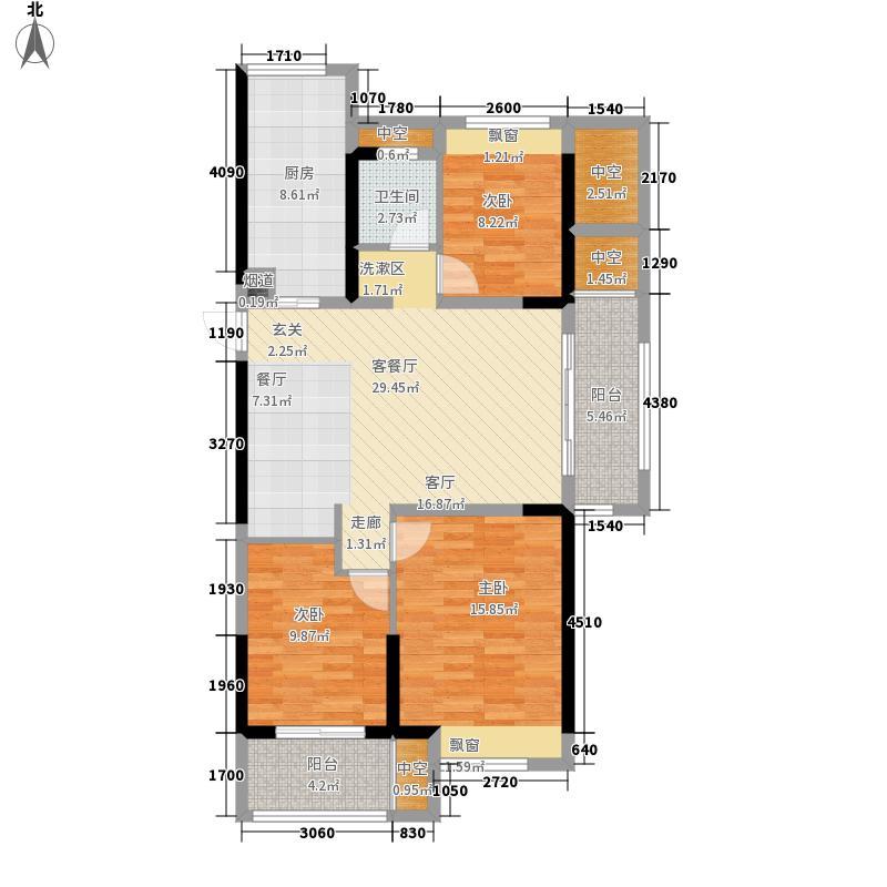 恒威国际城105.00㎡B5户型3室2厅