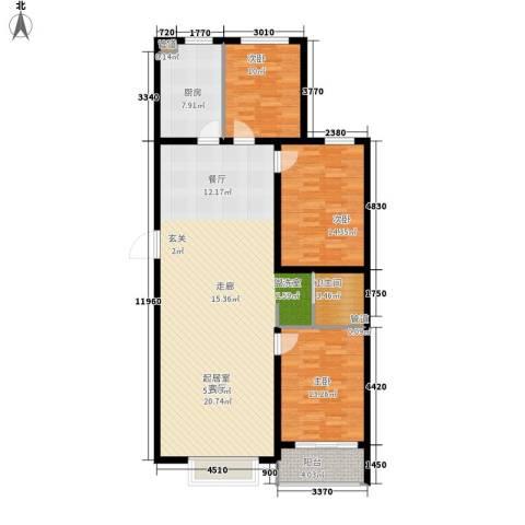 国粹3室0厅1卫1厨118.00㎡户型图