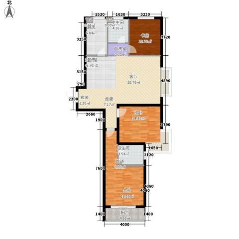 国粹3室0厅2卫1厨119.00㎡户型图