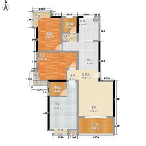 香缇溪岸3室0厅2卫1厨130.00㎡户型图