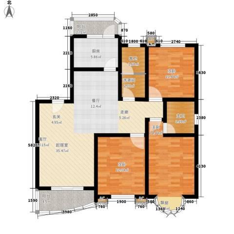 明丰阳光苑3室0厅0卫1厨139.00㎡户型图