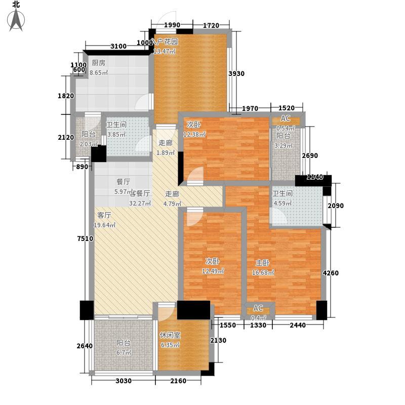 财富又一城136.00㎡电梯G1面积13600m户型