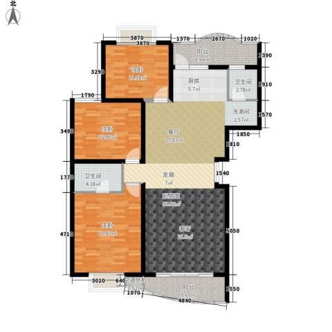 麓谷E家人3室0厅2卫0厨128.08㎡户型图