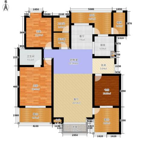 五矿龙湾国际社区3室0厅2卫1厨155.00㎡户型图