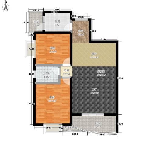 麓谷E家人2室0厅1卫1厨98.85㎡户型图