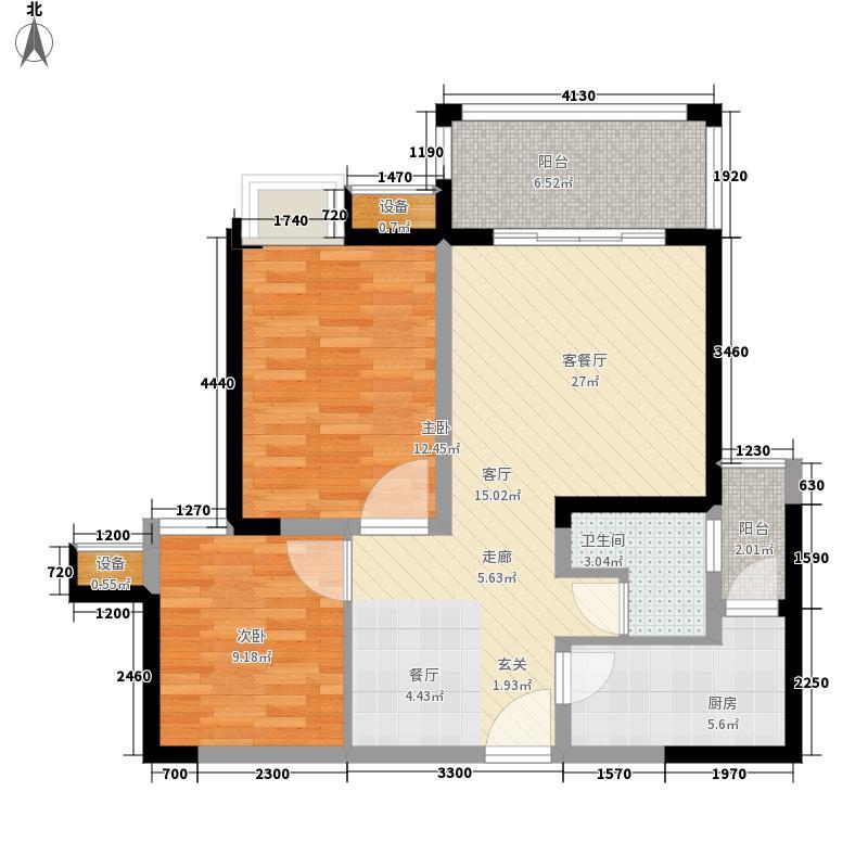 恒业星园78.00㎡B-3a型(已售完面积7800m户型