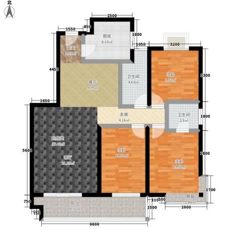 湘许嘉园3室0厅2卫1厨135.00㎡户型图