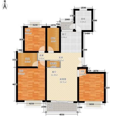 永达城市公寓3室0厅0卫1厨126.00㎡户型图