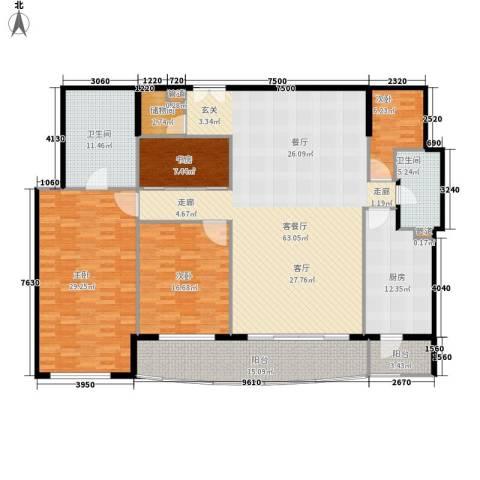世茂宫园4室1厅2卫1厨174.00㎡户型图