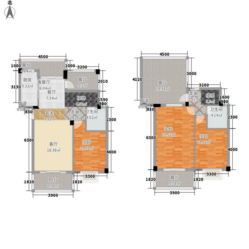 南宁奥园136.80㎡7B1复式户型3室2厅