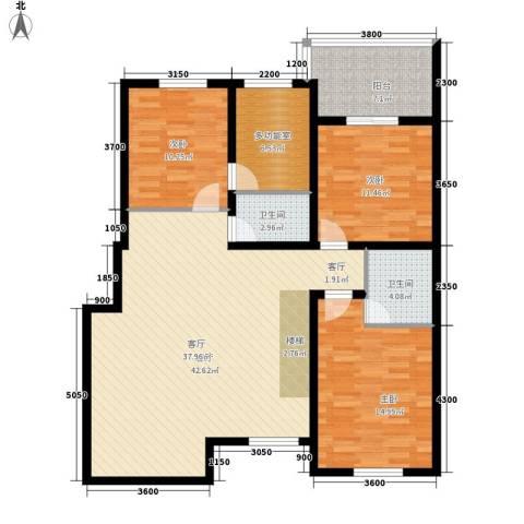 盈胜毓园3室1厅2卫0厨141.00㎡户型图