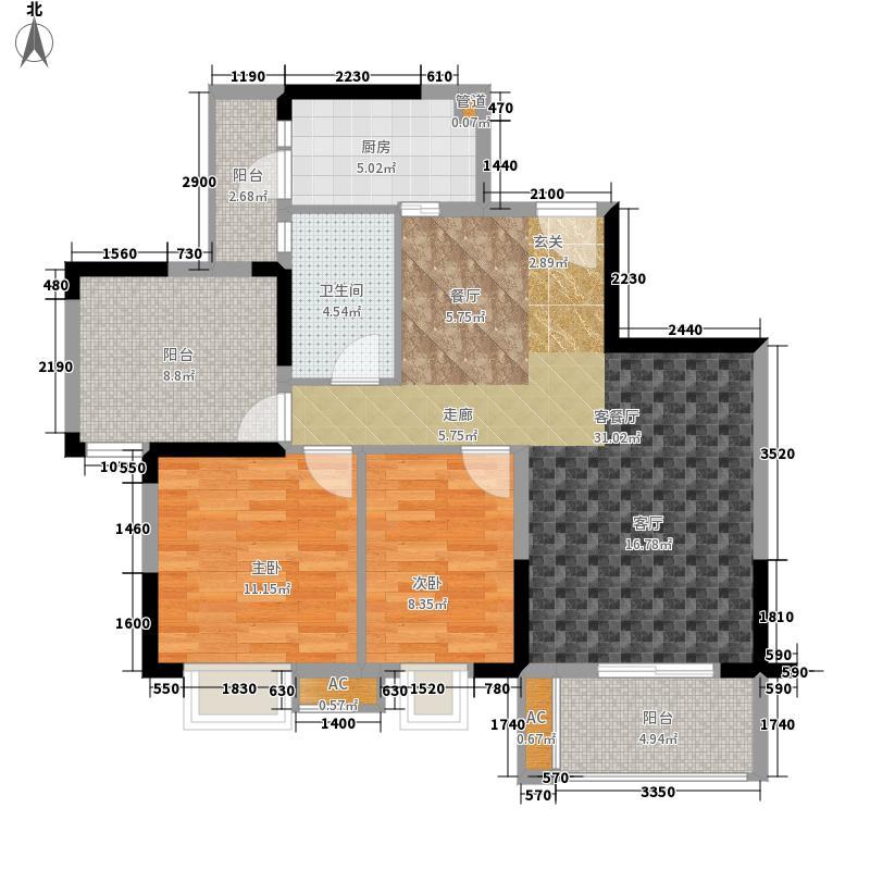 优客联邦89.00㎡三期6号楼标准层面积8900m户型
