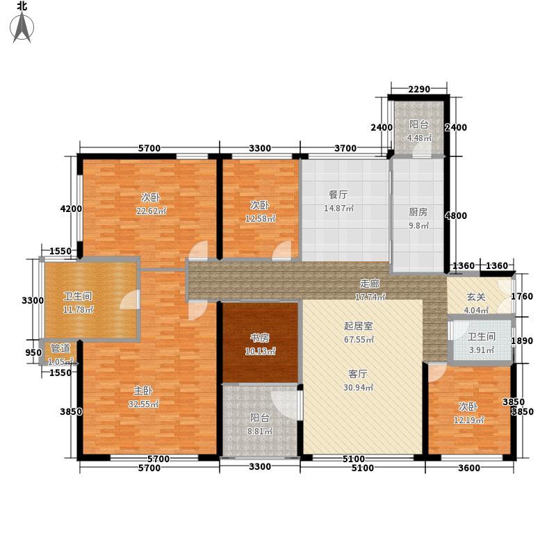 京基滨河时代·时代公寓227.00㎡京基滨河时代-D1栋B、C--户型5室2厅