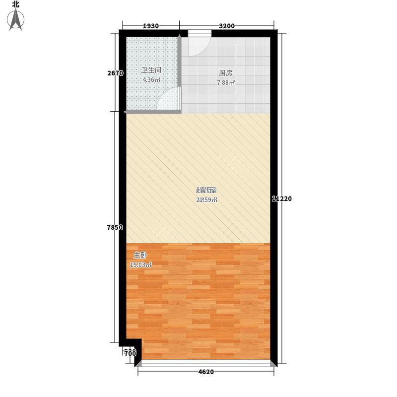 汇特大厦57.25㎡P、N4-5层面积5725m户型
