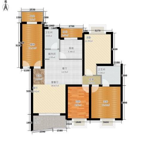 德润园3室1厅2卫1厨150.00㎡户型图