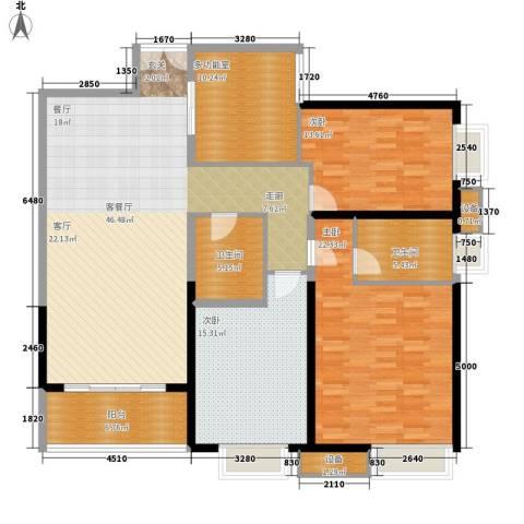 枫林绿洲3室1厅2卫0厨142.00㎡户型图
