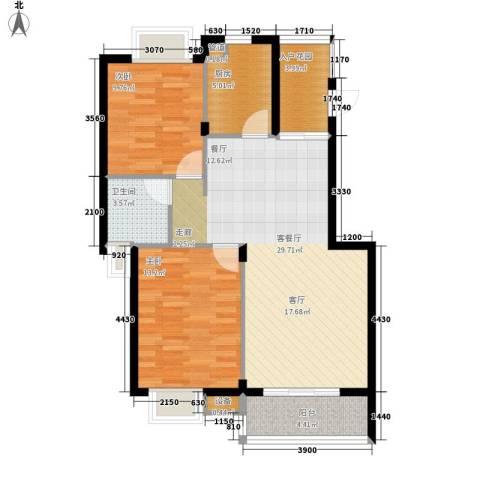枫林绿洲2室1厅1卫1厨200.00㎡户型图