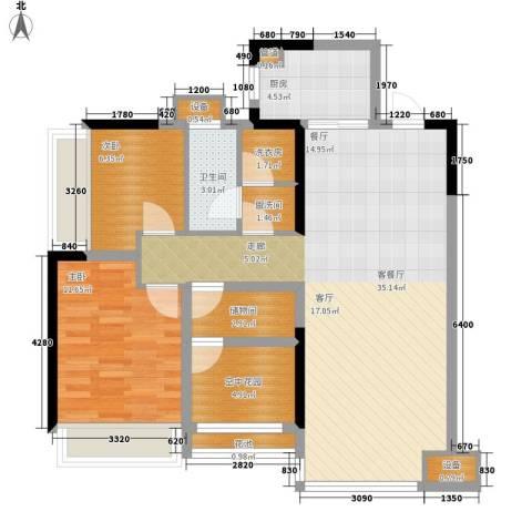 枫林绿洲2室1厅1卫1厨160.00㎡户型图